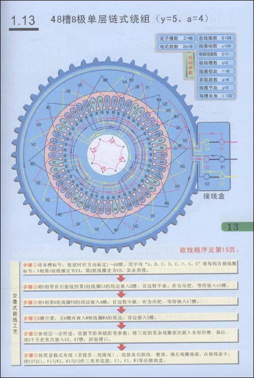 图解电动机绕组嵌线61布线61接线:亚马逊:图书