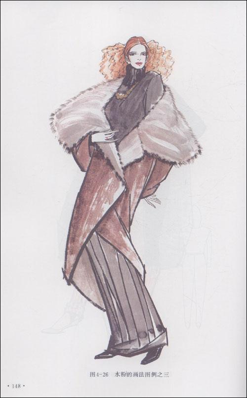 時裝畫禮服手繪效果圖_手繪時裝畫禮服一系列_手繪