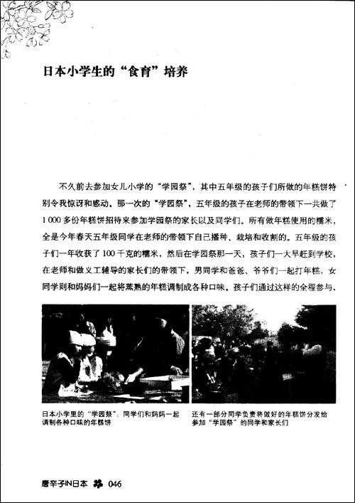 唐辛子IN日本:有关教育、饮食和男女