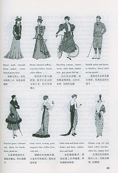 新古典主义服装手绘