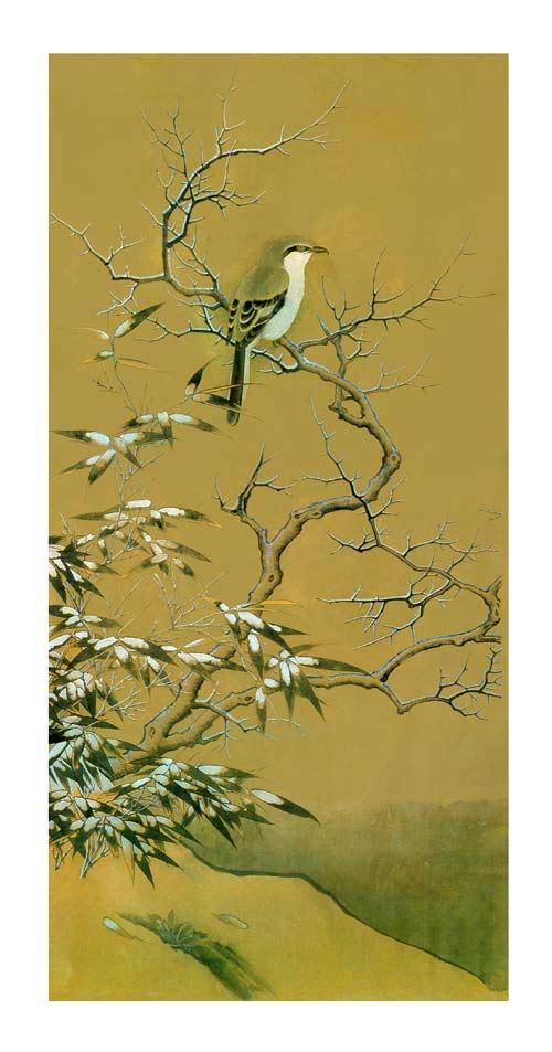 雪树寒亲禽中国古典绘画技法赏析