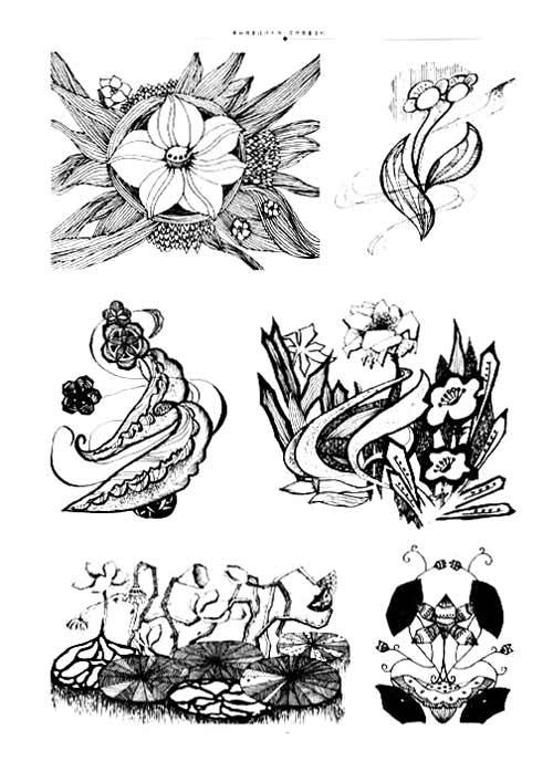 《花卉图案变形》 伍立锋【摘要 书评 试读】图书