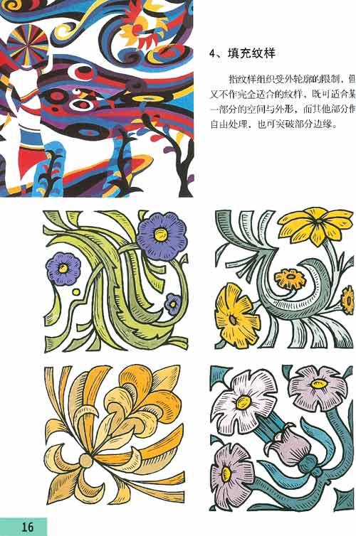 手绘二方连续纹样图案