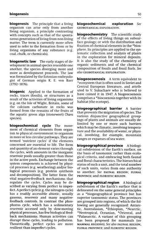牛津生态学词典