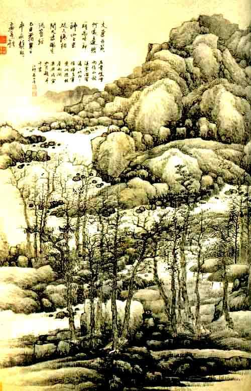 高手手绘画树