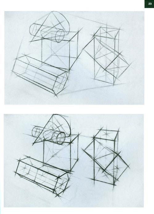 素描几何图形立体画图片下载