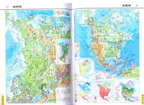 韩国简洁手绘地形图