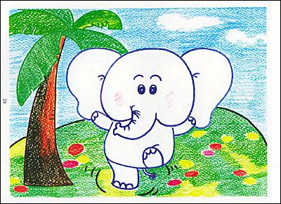 蜡笔画abc:动物画法/林玲玲-图书-卓越亚马逊