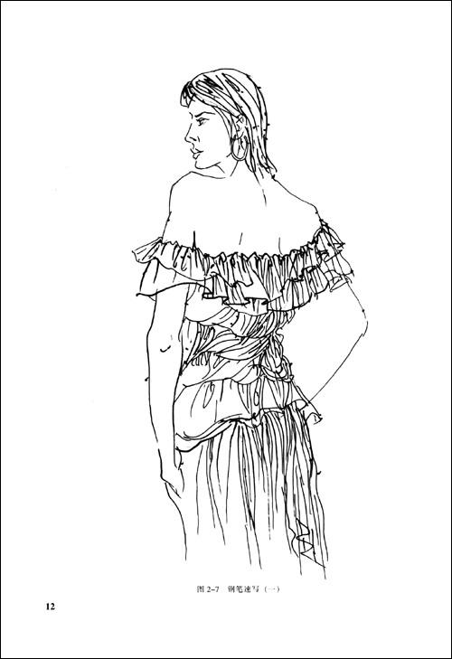 手绘服装头部步骤图