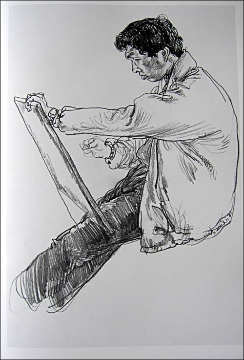 素描柳树的画法步骤