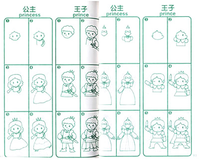 《儿童双语卡通简笔画》是帮助小朋友进入绘画领域的