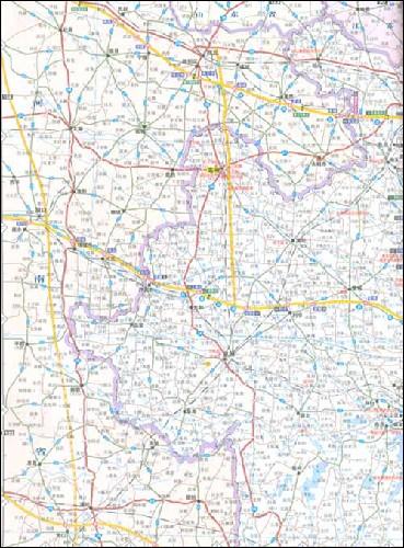 英文版安徽地图
