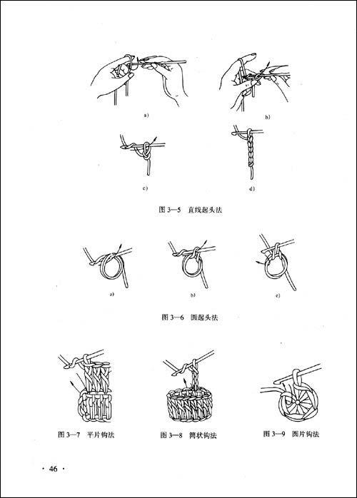 手工绣花针法图解套针