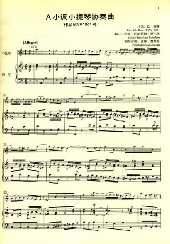 《巴赫a小调小提琴协奏曲:作品bwv1041号