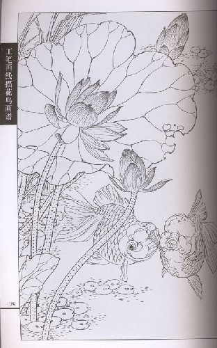 商品描述 编辑推荐         本书是《工笔画线描动物画谱》之金鱼篇