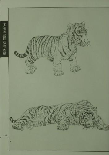 《工笔画线描动物画谱:老虎篇》 王永刚【摘要 书评