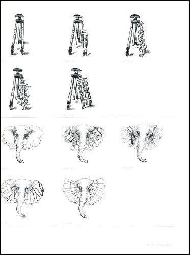 [课题1] 形的替代  [课题2] 形的渐变  [课题3] 异质同构  [课题4]图片