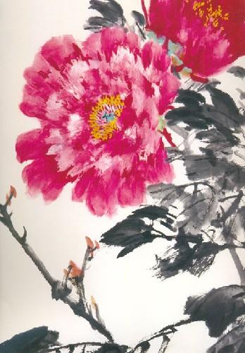 《写意牡丹画法2:美术教学示范作品》