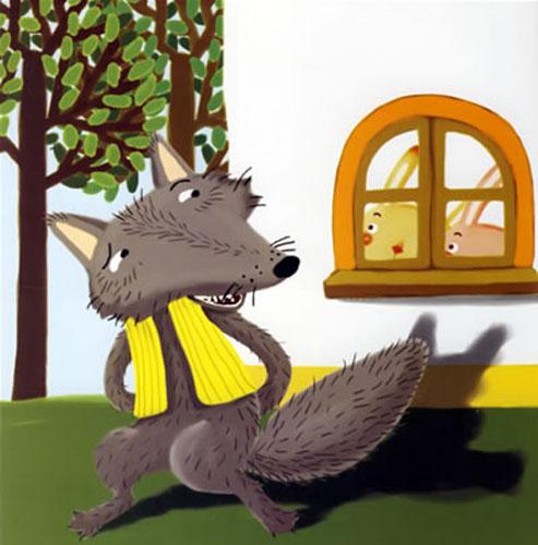 大灰狼与小白兔的故事内容|大灰狼与小白兔的故事版面设计