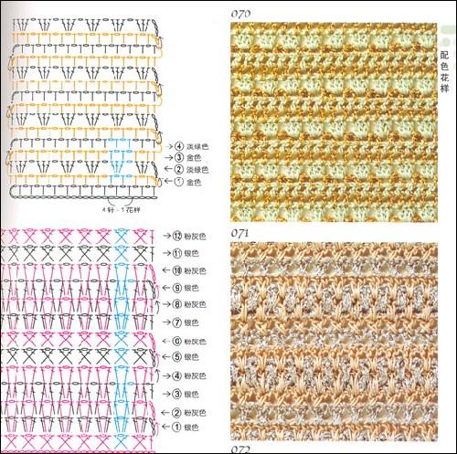 目录    钩针编织 简单花样 松针,贝壳形花样 扇形