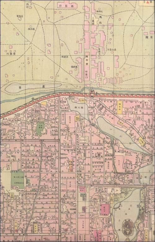 北平市全图:民国时期老地图:亚马逊:图书