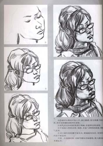 单个人物速写画法剖析