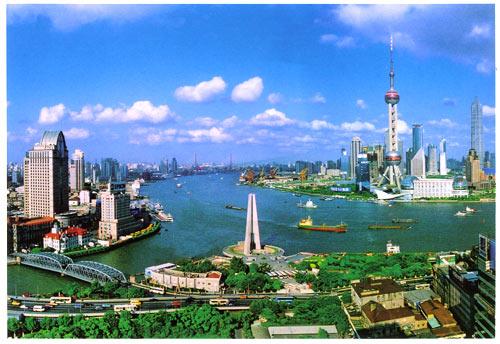 上海外滩风景图片; 上海风光明信片:上海外滩20景/上海瑞德美术设计