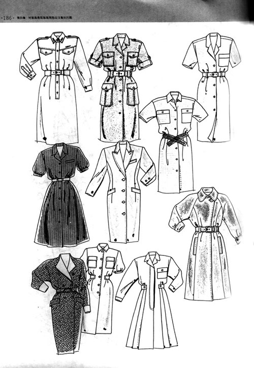 创意服装袖子手绘图