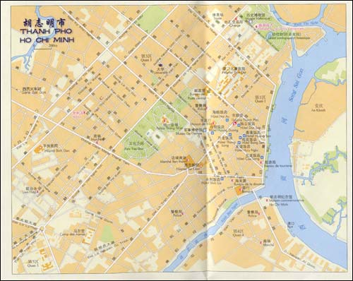越南 老挝 柬埔寨(世界分国地图)