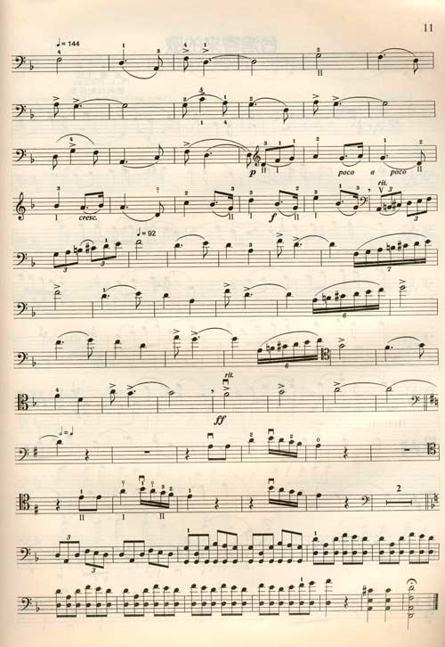 牧歌大提琴曲谱分享展示
