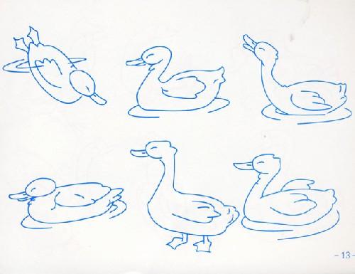 彩色卡通动物简笔画 第3张