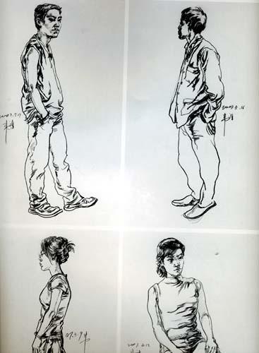 美术绘画正规训练:人物速写画法