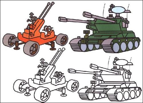 手痒痒画坦克大炮; 画坦克大炮; 儿童画大炮图片大全
