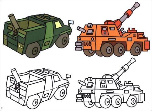 画坦克大炮 谢辛图片