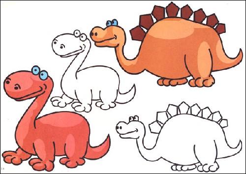 恐龙儿童创意绘画