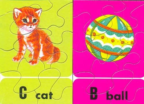 可爱的动物拼图卡是一套教小孩子认识小动物的拼图玩具和教具.