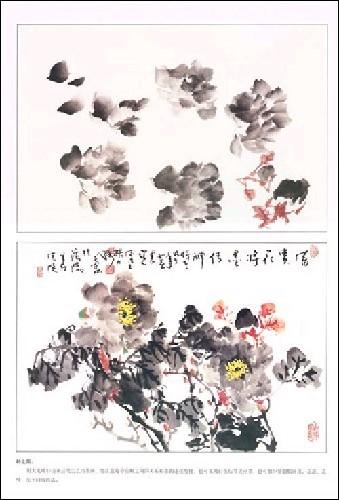 介绍了写意牡丹画法,并收多幅写意牡丹画步骤图例,每图均有详细画法