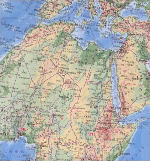 《世界地形图》由中国地图出版社出版,收集了世界各国地形,图片印刷精
