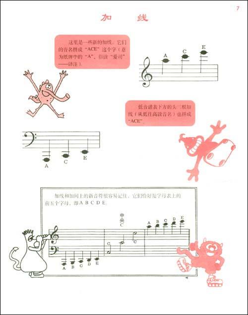 约翰61汤普森简易钢琴教程5(双色版)(附vcd光盘1图片