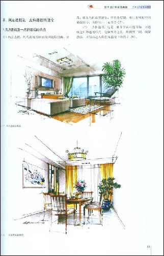 现代室内设计手绘效果图:亚马逊:图书