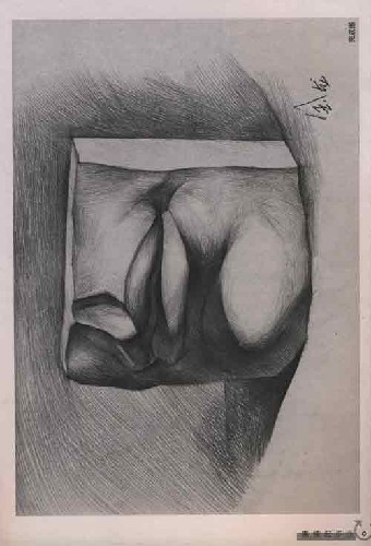 素描石膏像眼睛,耳朵,鼻子