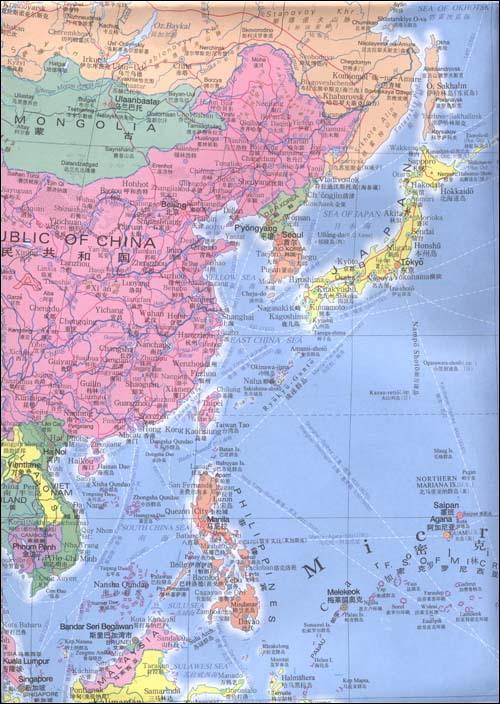 《新编世界地图(中英文)》