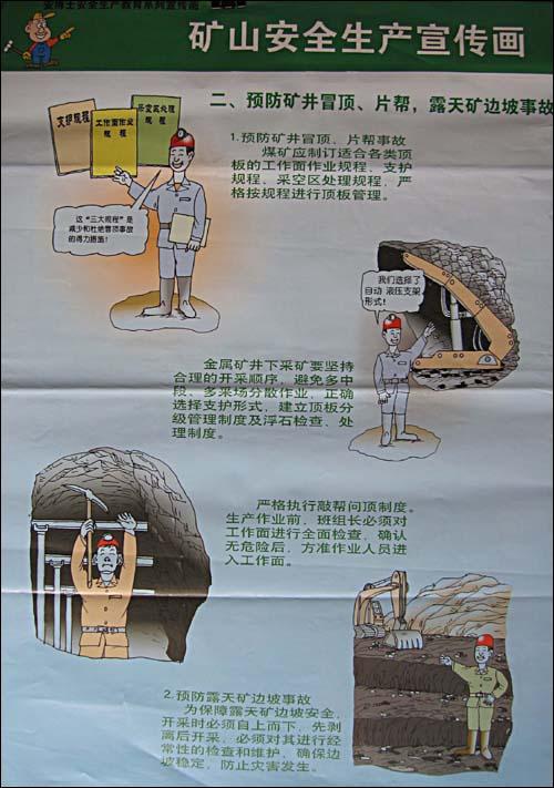 矿山安全生产宣传画:安博士