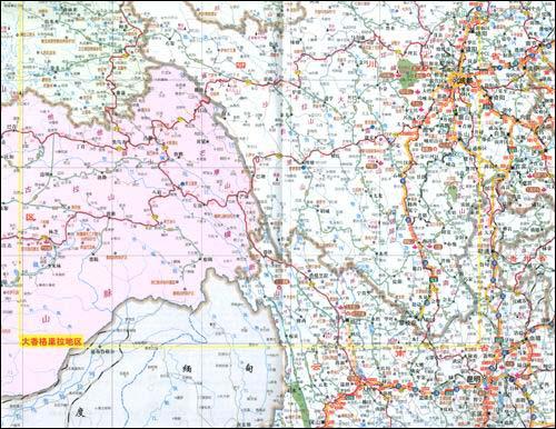 《公路交通旅游详图:新疆