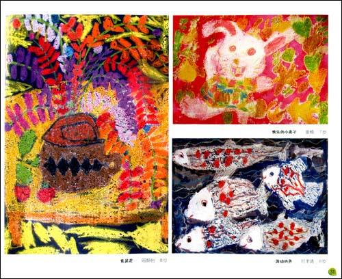 同蜡笔相比油画棒颜色更鲜艳,在纸面的附着力更强,用油回棒画出来的画