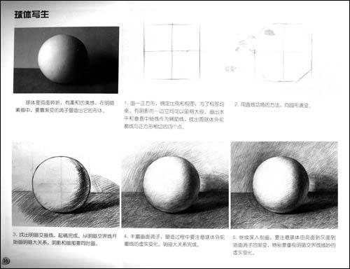 素描球体画法图解_图解大全