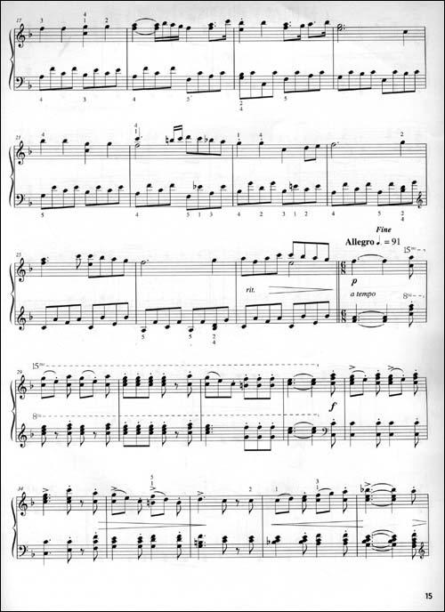 欢乐颂音谱钢琴