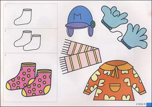 《彩色版简笔画标准图谱:物品》主要内容:衣帽服饰,生活用品,学习用品