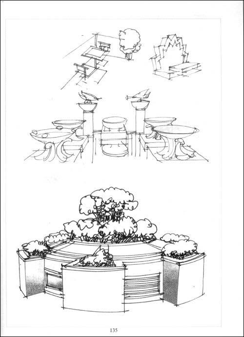 配景与细部(建筑景观设计手绘表现)