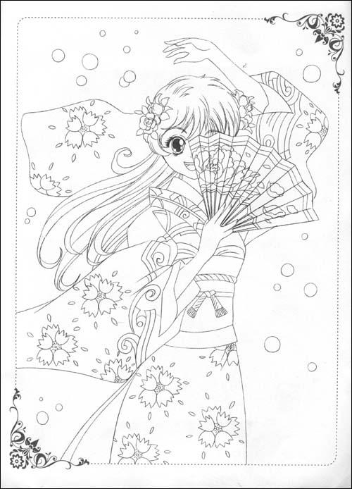 美术学画画魔法少女二年级简单_